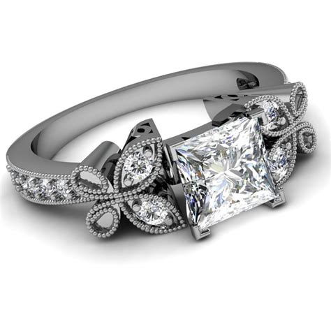 princess cut vintage engagement ring