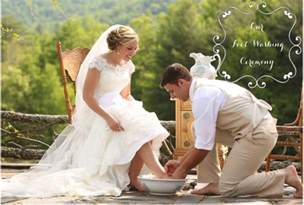 Wedding Foot Washing Ceremony   Mother of the Bride