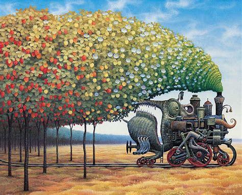 surrealism world of art surrealist art jacek yerka eclectic living home