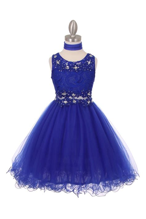 Dress Flower Rb royal blue flower dresses