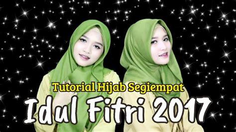 tutorial hijab segi empat untuk hari raya idul fitri tutorial hijab segiempat rawis simple untuk hari raya idul