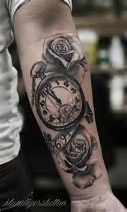 love the detail on this clock tattoos pinterest