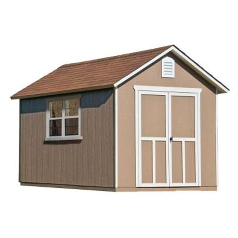 Home Depot Wooden Sheds by Handy Home Products Meridian 8 Ft X 12 Ft Wood Storage