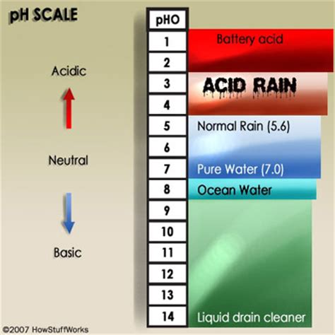Acid rain pH is low due to the high levels of nitrogen oxides in the water. Learn about acid