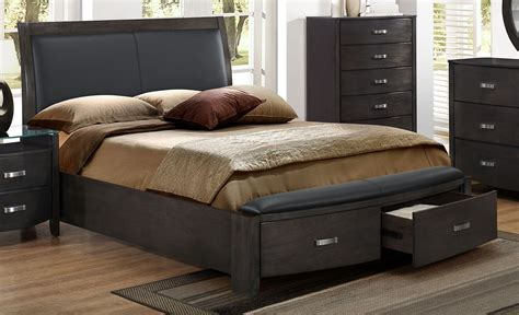 cinema king bed charcoal s