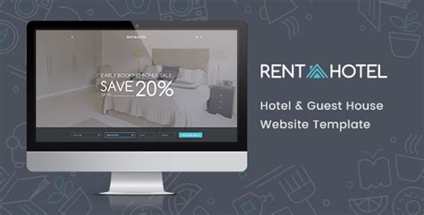 Rent A Hotel Hostel Guest House Booking Website Psd Template By Bestwebsoft Guest House Website Templates Free