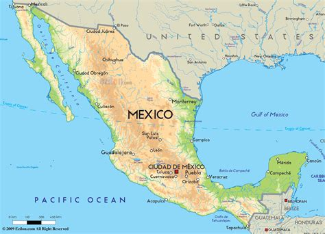 map of mexico and america road map of mexico and mexican road maps