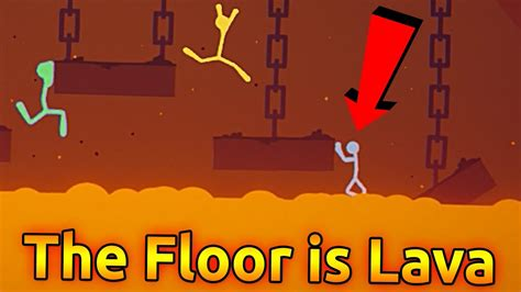 challenge fight stick fight the floor is lava challenge stick fight