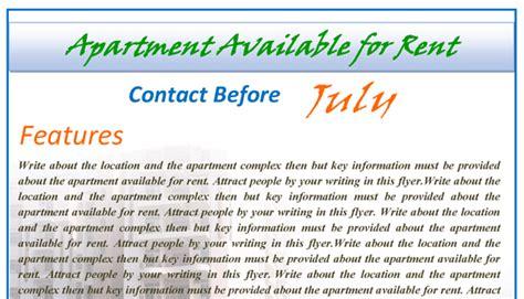 apartment rental flyer template rental apartments flyer