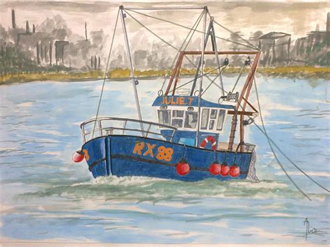 fishing boat drawing fishing boat by alicevii on deviantart