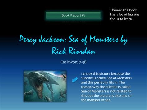 sea of monsters book report ppt percy jackson sea of monsters by rick riordan