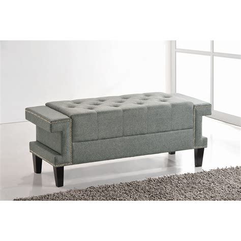 upholstered bedroom bench wholesale interiors baxton studio cheshire upholstered