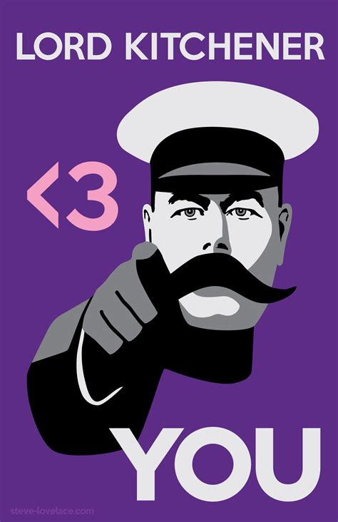 Lord Kitchener Poster Make Your Own by Lord Kitchener Hearts You Steve