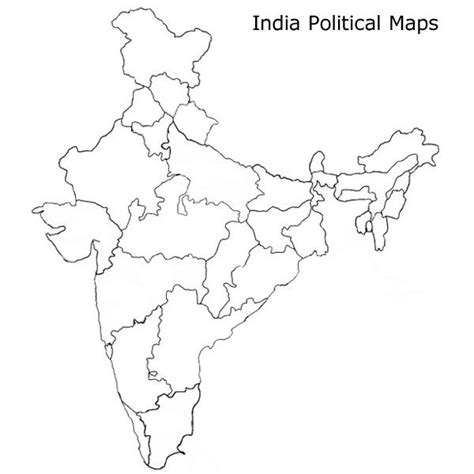 indian political map study pinterest