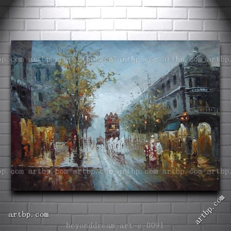 Hermosa Wall Decor 40x60 City american city in s painting