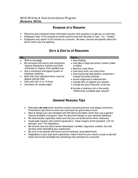 Work Objective Resume by Cv Objective Statement Exle Resumecvexle