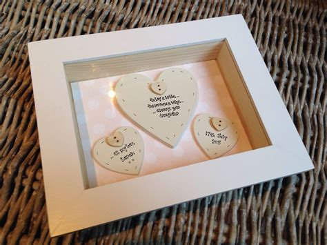 gifts uk shabby personalised chic box frame gift for of the