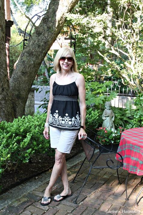 over 50 shorts outfit fashion over 50 casual summer shorts southern hospitality