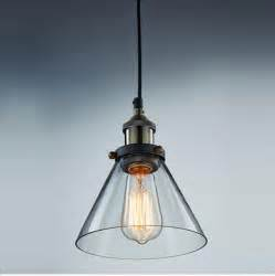Glass Pendant Lights For Kitchen Aliexpress Buy Modern Industrial Vintage Clear Glass Taper Shade Pendant Light Kitchen