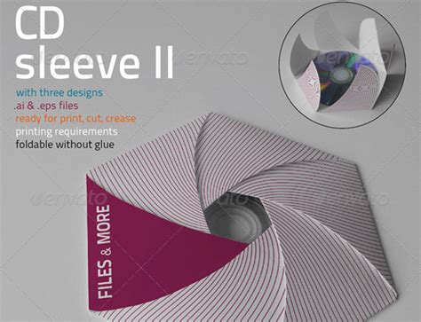 foldable cd sleeve template 25 outstanding packaging design kits