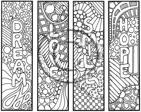 school doodle colouring bookmarks crazy designs coloring pages doodle coloring pages