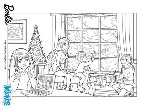 coloring pages barbie christmas barbie s christmas story coloring pages hellokids com
