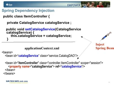 spring dependency injection private setter javaee spring seam