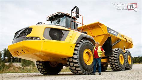 volvo ah articulated dump truck  test drive youtube