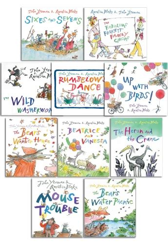 quentin blake collection 10 picture flats books set pack 9788033640141 buy books