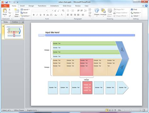 value chain templates for powerpoint