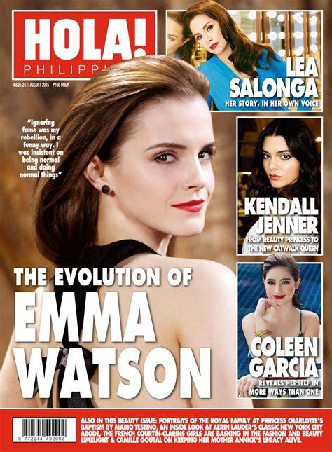 imagenes revista hola emma watson en la revista hola de filipinas im 225 genes