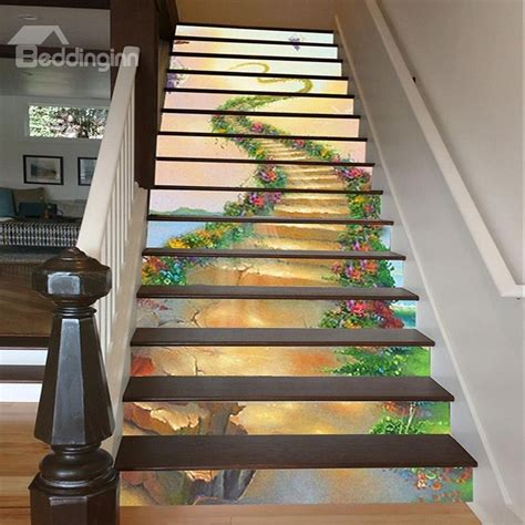 home design 3d gold stairs vivid unique design ladder to heaven pattern waterproof