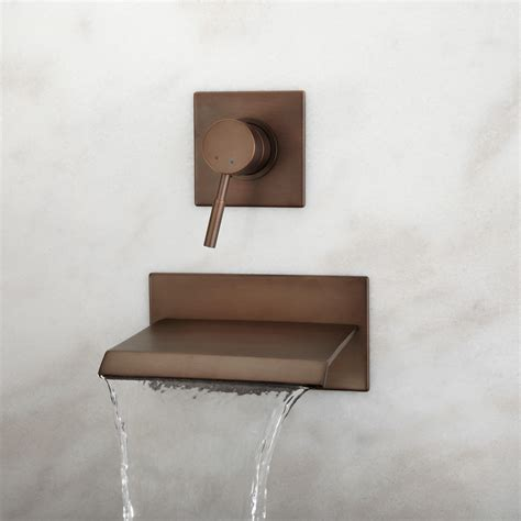wall mounted bathtub faucet lavelle wall mount waterfall tub faucet bathroom