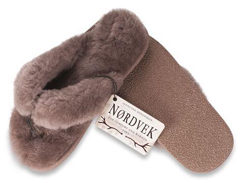 flip flop slippers nordvek genuine sheepskin flip flop slippers thongs