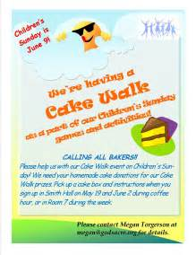children and family ministries cake walk the
