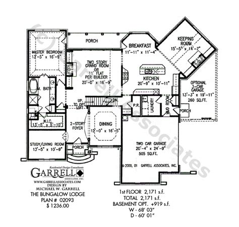 bungalow ranch house plans bungalow lodge house plan active adult house plans