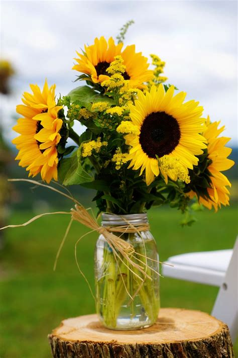 sunflower arrangements ideas natural vineyard wedding with sunflowers discover best