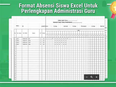 download format absensi siswa excel berkas guru sekolah