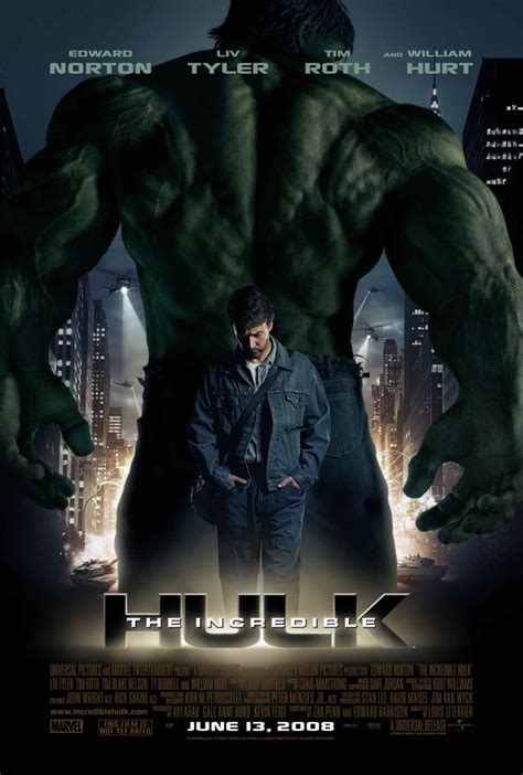 The Incredible Hulk 2008 Film The Kingsington Journal Movie Poster The Incredible Hulk 2008