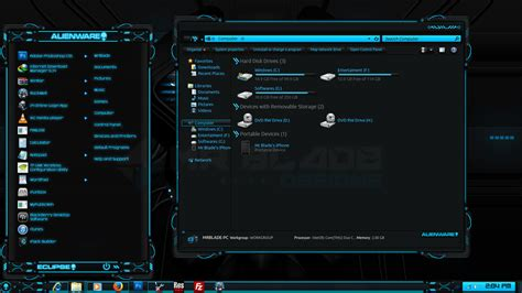 Eclipse Theme Pack | alienware eclipse preview by mr blade on deviantart