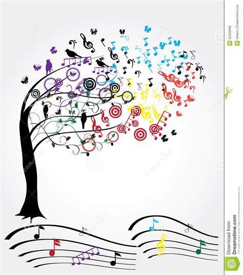 musical notes christmas tree image tree stock vector illustration of disco computer 32203898