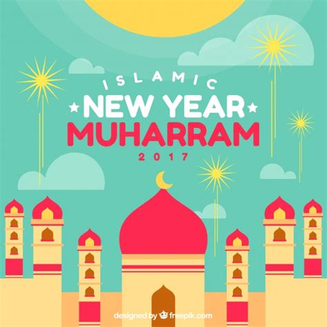 new islamic year islamic new year background vector free