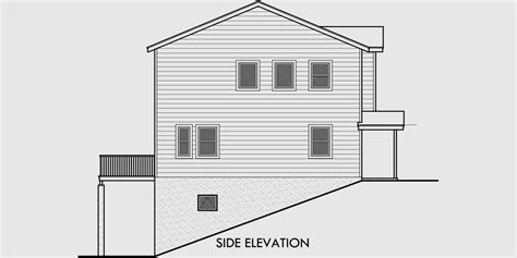 house plans for sloping lots in the rear duplex house plans rear garage duplex plans d 564