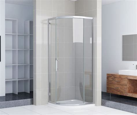Single Door Shower Enclosure Crown 1000mm Single Door Quadrant Shower Enclosure