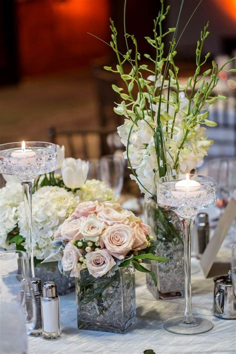 Glass Vase Wedding Centerpiece Ideas by Designs By Jeremiah