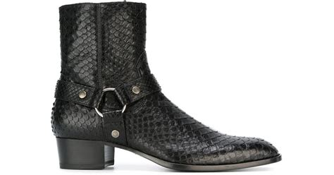 laurent boots mens laurent wyatt ankle boots in black for lyst