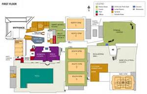 Recreation Center Floor Plans by Locations Campus Recreation