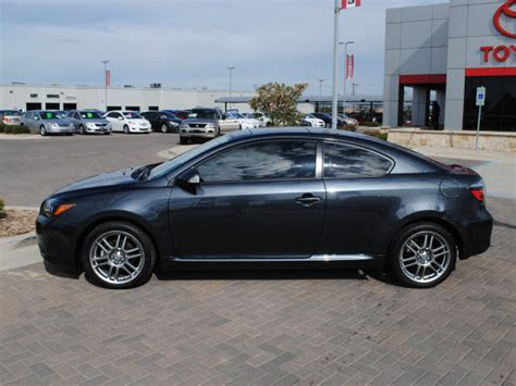 scion tc cylinder scion tc 2009 gray coupe gasoline 4 cylinders front wheel