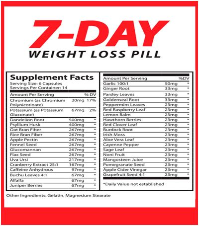7 weight loss pill 7 day weight loss pill review does it really work