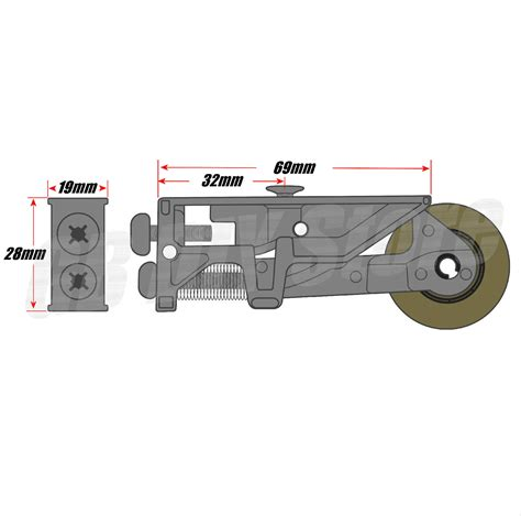 Patio Door Roller Wheels Pair Of Srz S Patio Door Steel Rollers 32mm Wheels Sliding Doors Ebay